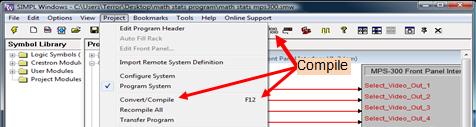 Figure 8: Compiling SimplWindows Code