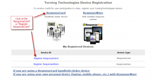 Moodle Student Clicker Register screenshot 2