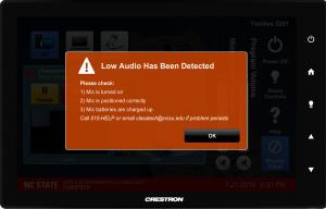 Low Audio Detected